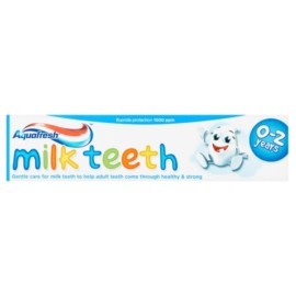 Aquafresh Milk Teeth Fluoride Toothpaste 50ml