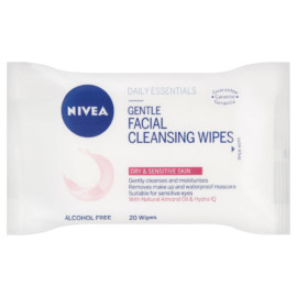 Nivea Face Sensitive Wipes 20'S