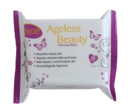 Cherish Ageless Beauty Cleansing Wipes 25 Wipes