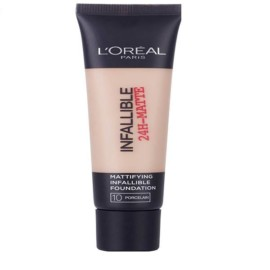 L'Oreal 24H-Matte Waterproof Foundation 10 Porcelain 35ml.