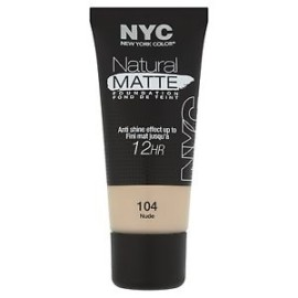 NYC Natural Matte Foundation Nude 104