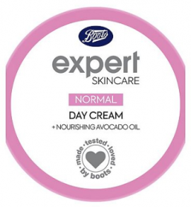 Boots Expert normal day moisturiser spf15 + nourishing avocado oil 50ml