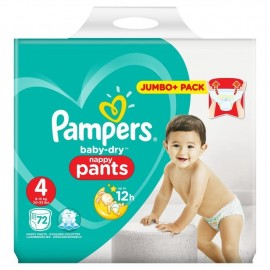 Baby Dry Pull Up Pants 9-15kg 72 Nappies