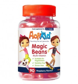 ActiKid® Magic Beans Multi-Vitamin Raspberry Flavour 90