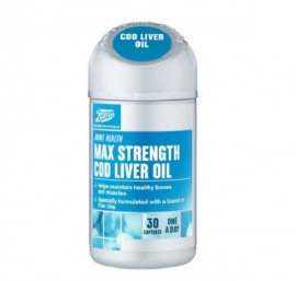 Boots Max Strength Cod Liver Oil 100mg – 30 Capsules