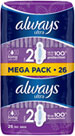 Always Ultra Long Sanitary Towels With Wings 26 Pack