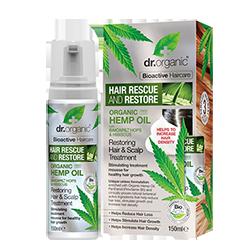 Dr Organic Hemp Oil Rescue & Restore Hair & Scalp Treatment 150ml