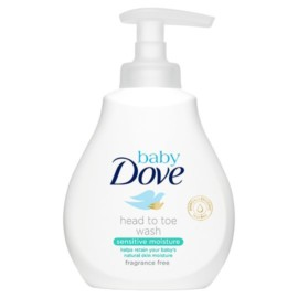 Baby Dove Sensitive Moisture Fragrance Free Head To Toe Wash 200ml