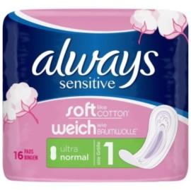 Always Ultra  Normal Sensitive 16