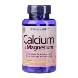 Holland & Barrett Calcium & Magnesium 100 Caplets