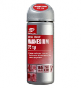 Boots Magnesium 375mg 180 Tablets