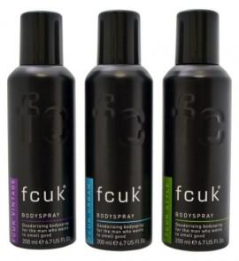 Fcuk Men's Bodyspray Trio Gift Set