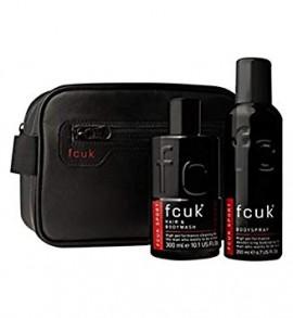 Fcuk Men's Sport Wash Bag Gift Set
