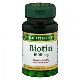 Nature's Bounty Biotin 1000mcg 100 Tablets