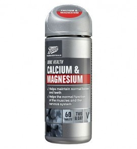 Boots Calcium + Magnesium 60 Tablets