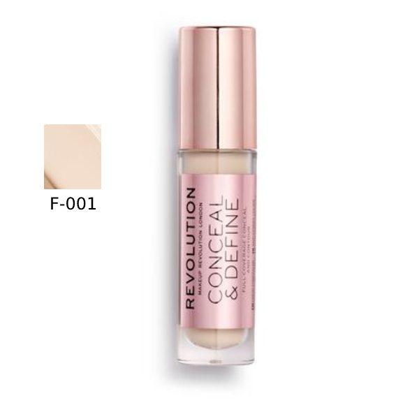 Makeup Revolution Conceal & Define Concealer F-1 in bd